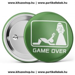 Game Over kitűző II. zöld