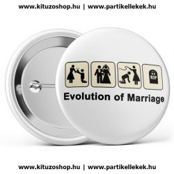 Evolution of Marriage kitűző
