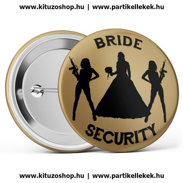 Bride Security kitűző barna