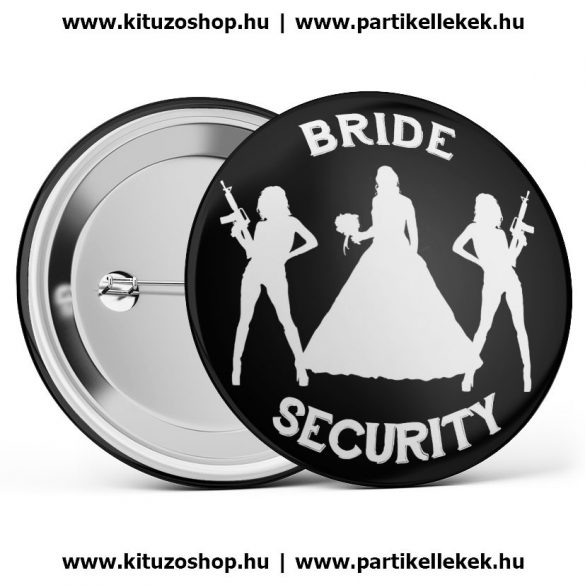 Bride Security kitűző fekete