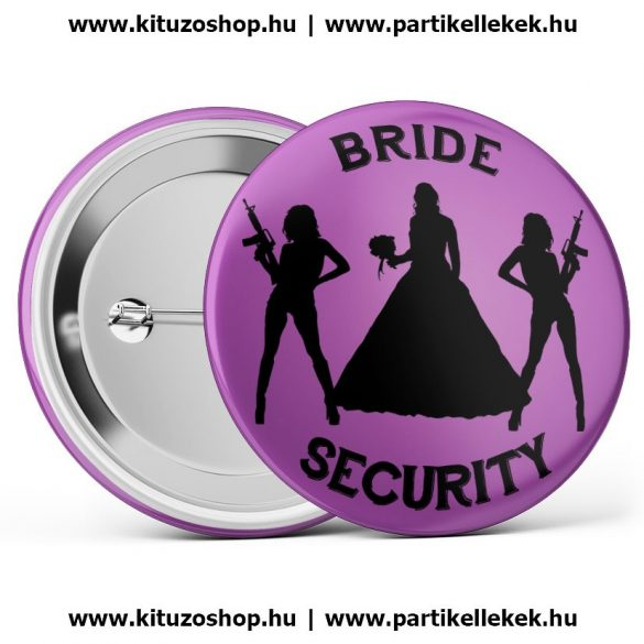 Bride Security kitűző lila