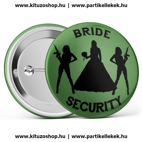 Bride Security kitűző zöld