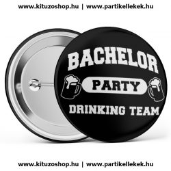 Bachelor Party Drinking Team legénybúcsú kitűző